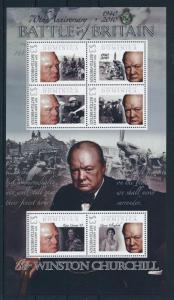 [81176] Dominica 2009 Second World war Battle of Britain Churchill Sheet MNH