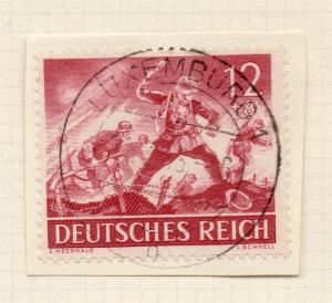 1944-45 GERMANY used in LUXEMBOURG Fine Used 12p. Postmark Piece 241806