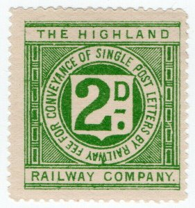 (I.B) The Highland Railway : Letter Stamp 2d