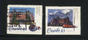 Canada #1467-68     used VF 1993  PD