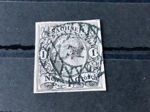 Saxony 1855 Grid Number cancel 14 for Bautzen  Stamp 57190