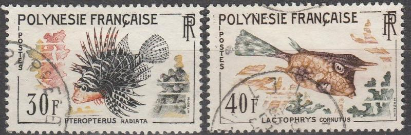 French Polynesia #201-2  F-VF Used CV #19.05    (A13077)