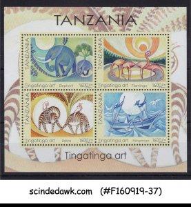 TANZANIA - 2018 TINGATINGA ART - MIN/SHT MNH
