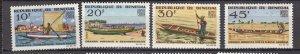 J28176 1965 senegal set mh #253-6 boats