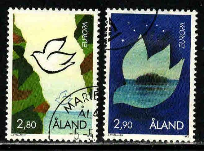 Finland, Aland Islands # 114-15 ~ Cplt Set of 2 ~ CTO, HMR ~ cv 2.35