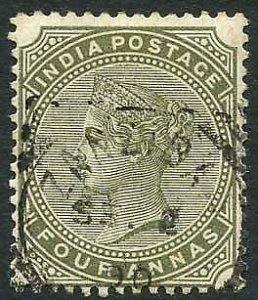 Zanzibar SGZ69 4a Olive-green Z5 Squared Circle dated 2nd Sept 1890