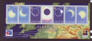Alderney Sc 133a 1999 Solar Eclipse stamp sheet mint NH