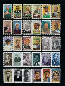 30 BLACK HERITAGE MNH SINGLES FIRST ISSUES OF THE SERIES - Q184