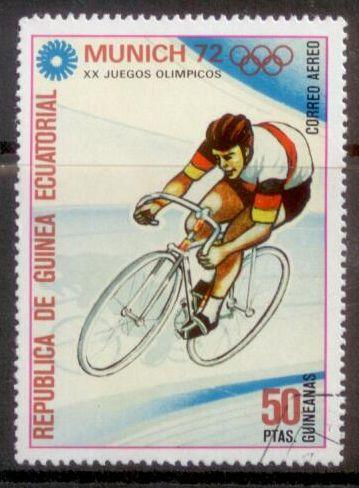Equatorial Guinea 1972 Munich Olympics Cycling Used