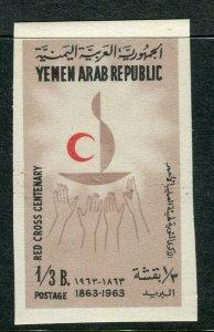 YEMEN;  1963 Red Cross Anniversary issue Mint MNH 1/3b. IMPERF VARIETY value