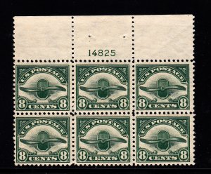 #C4 Plate block F-VF NH! Free certified shipping.