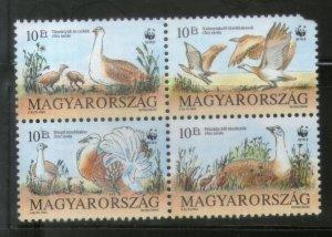 Hungary 2004 WWF Birds Wildlife Animal 4v MNH # 1835