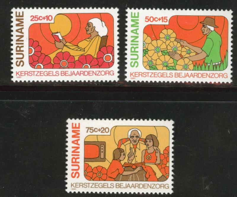 Suriname Scott B276-278 MNH** 1980  semi-postal set