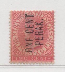 Malaya Perak - 1886 - SG26 - 1c on 2c -  no gum #621