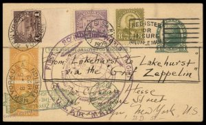 USA 1929 Graf Zeppelin Round-the-World Si28D Cover 92730