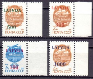 Latvia. 1991. 313I-16I. Overprint standard. MNH.