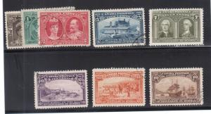 Canada #96 - #103 Very Fine Used Set With Light Cancels