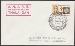 AUSTRALIA ANTARCTIC 1973 cover ex Casey  - Thala Dan ship cachet............L960