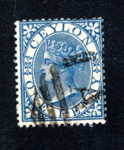 Ceylon #61,  F/VF, Used, CV $12.00 ....  1290046