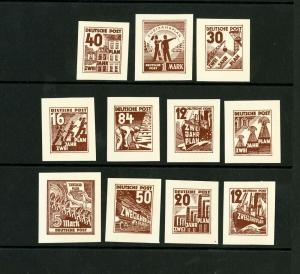 Germany Stamps Proof Rare 11 Different Essay Proof