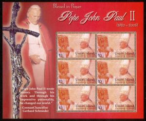 St Vincent Grenadines Union Is 291 Sheet MNH Pope John Paul II