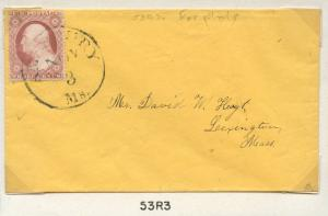 #25A ON COVER WITH PLATE NO. 53R3 CV $675.00 BN8823