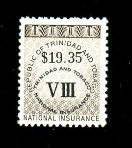 Trinidad and Tobago 19.35 National Ins. stamp F-VF NH