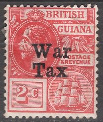 British Guiana 1918; Sc. # MR1; *+/MLH Single Stamp