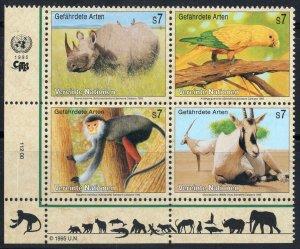 1995 UN Vienna 180-183VB Fauna 5,00 €