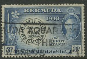 Bermuda -Scott 136 - Postmaster Stamp - 1949 - Used  - 3p Stamp