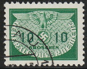 Stamp Germany Poland General Gov't Official Mi 18 Sc NO18 WW2 Occupation Used