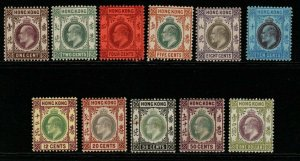HONG KONG SG62/72 1903 DEFINITIVE SET TO $1 MTD MINT