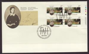 Canada 1227 Painting Plate Block Canada Post U/A FDC