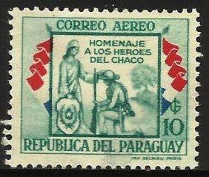 Paraguay Air Mail 1957 Scott# C244 MH (thin)