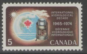 CANADA SG623 1968 HYDROLOGICAL DECADE MNH