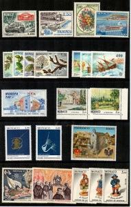 Monaco Scott 1805 // 1837 Mint NH sets (Catalog Value $47.10)
