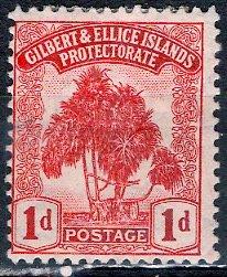 Gilbert & Ellice; 1911: Sc. # 8: */MH Single Stamp