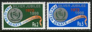 Pakistan 892-893, MNH. Pakistan Senate, 25th anniv. 1998