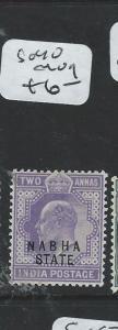 INDIA NABHA (P0808B) KE 2A  SG 40  MOG