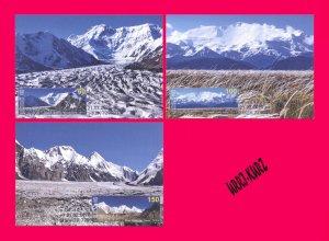 KYRGYZSTAN 2020 Mountains Seven-Thousanders Mi KEP148-150 Maxicards Maximum Card