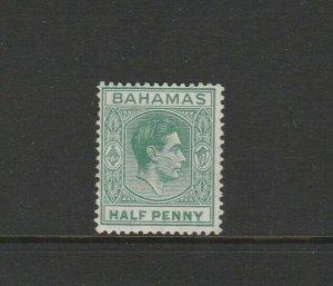 Bahamas 1938 GV1 Defs 1/2d ELONGATED E Variety MM SG 149a