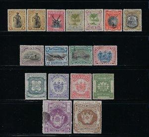 NORTH BORNEO SCOTT #59-73 1894 SET - MINT HINGED (TOP VALUES USED) FAULTS
