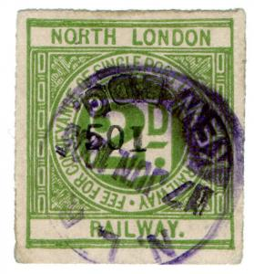 (I.B) North London Railway : Letter Stamp 2d (Kew Bridge)