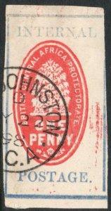 BRITISH CENTRAL AFRICA-1898 1d Vermilion & Pale Ultramarine Sg 55b GU V37854