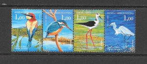BIRDS - BOSNIA-CROAT) #134 (ROW 2)  MNH