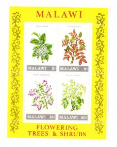Malawi 1971 Flowering Shrubs and Trees S/S MNH