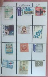 12 Stamps from Netherlands for $1.00 (Sell or trade)(NET-01)