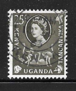 Kenya Uganda Tanganyika 124: 25c Elizabeth II, used, F-VF