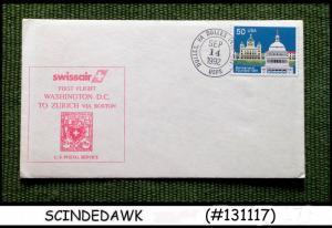 UNITED STATES USA - 1992 SWISSAIR WASHINGTON D.C. to ZURICH FIRST FLIGHT COVER