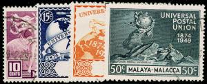 MALAYSIA - Malacca SG18-21, COMPLETE SET, FINE USED, CDS. Cat £18.